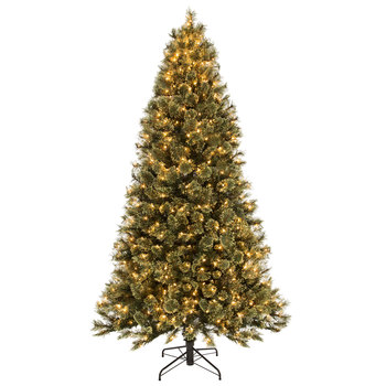 Quick Set Fast Shape Sierra Cashmere Pre-Lit Christmas Tree - 7 1/2'