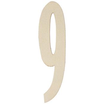 Vintage Sign Wood Numbers - 9