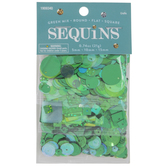 Green Round, Flat & Square Sequins