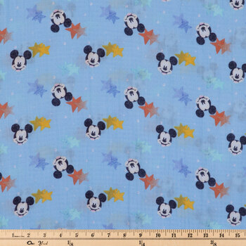 Mickey Mouse Star Gauze Fabric