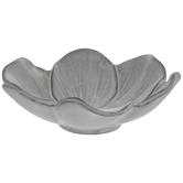 White & Brown Flower Bowl