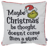 Grinch Christmas Pillow