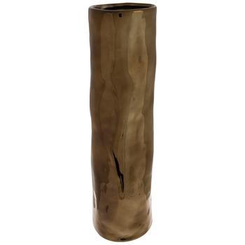 Gold Uneven Cylinder Vase