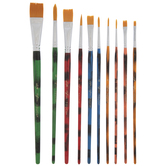 Watercolor & Acrylic Paint Brushes - 10 Piece Set