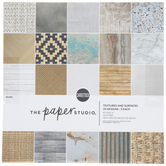 "Textures & Surfaces Paper Pack - 12"" x 12"""