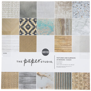 """Textures & Surfaces Paper Pack - 12"""" x 12"""""""