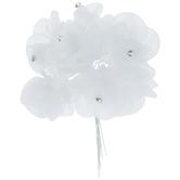 White Organza Rose Pick