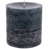 Denim & Lace Pillar Candle