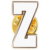 White Letter Metal Pin - Z