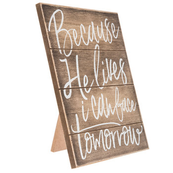 Because He Lives Wood Decor Hobby Lobby 1655059