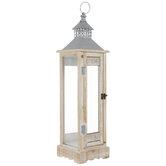 Whitewash Wood Lantern