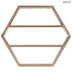 Brown Hexagon Four-Tiered Wood Wall Shelf