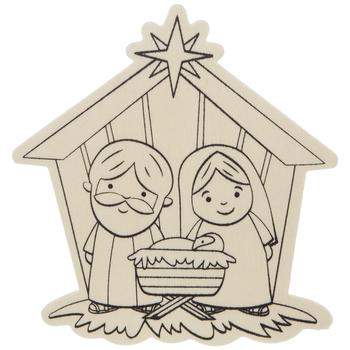 Nativity Scene Wood Craft Kit