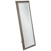 Two-Tone Distressed Wood Wall Mirror