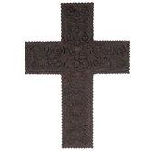 Rust Engraved Wall Cross