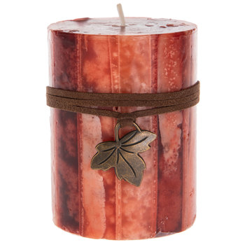 Spiced Cider Striped Pillar Candle