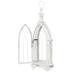 White Arched Metal Lantern