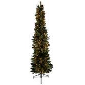 Ultra Slim Bristol Cashmere Pre-Lit Christmas Tree - 7'