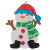 Red Hat Snowman Ornament