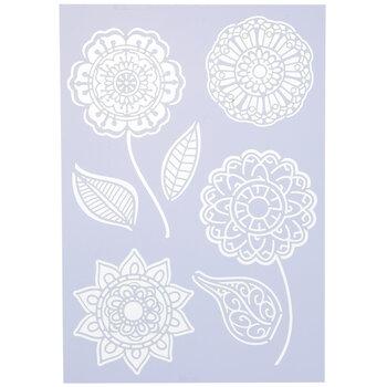 Boho Flowers Stencil