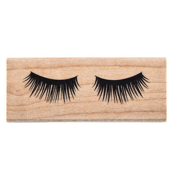 Eyelashes Rubber Stamp