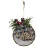 Rustic Church Shaker Ornaments