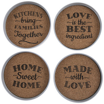 Mason Jar Lid Cork Coasters