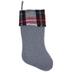 Gray Felt With Plaid Cuff Stocking