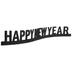 Happy New Year Glitter Decor
