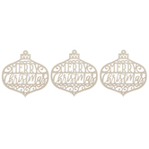 Merry Christmas Ornament Wood Shapes