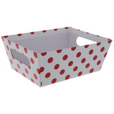 Red Foil Polka Dot Container