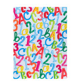 Multi-Colored Letters & Numbers Felt Sheet
