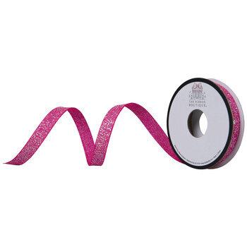 """Hot Pink Glitter Ribbon - 3/8"""""""