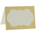 Gold & White Ornate Place Cards