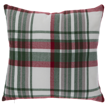 Red, Green & White Plaid Pillow
