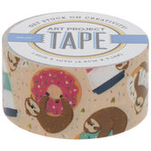 Sloths, Coffee, & Donuts Art Project Tape