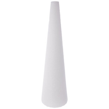 White CraftFoM Foam Cone