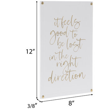 Lost In The Right Direction Wood Wall Decor