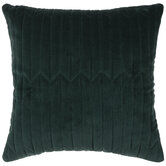 Green Velvet Quilted Pillow Cover