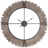 Rustic Outline Wood Wall Clock