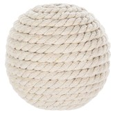 White Woven Rattan Decorative Sphere