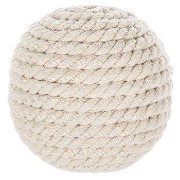 White Woven Rattan Decorative Sphere