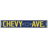 Chevy Avenue Metal Sign