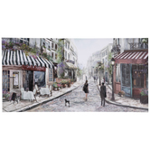 French Street Cafe Canvas Wall Decor