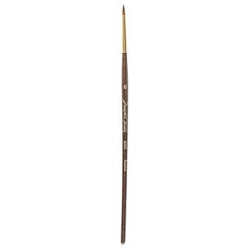 Golden Taklon Round Paint Brush