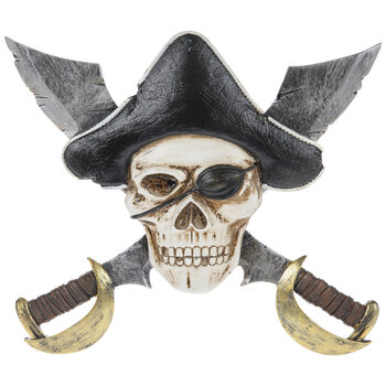 Pirate Skull & Knives Wall Decor