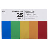 """Primary Foil Cardstock Paper Pack - 8 1/2"""" x 11"""""""