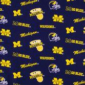 Michigan Allover Collegiate Cotton Fabric
