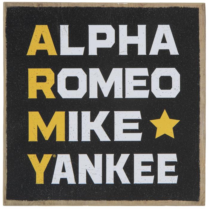 Army Phonetic Alphabet Wood Decor Hobby Lobby 1947118