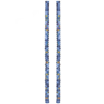 Frosted Blue AB Flat Rondelle Bead Strands